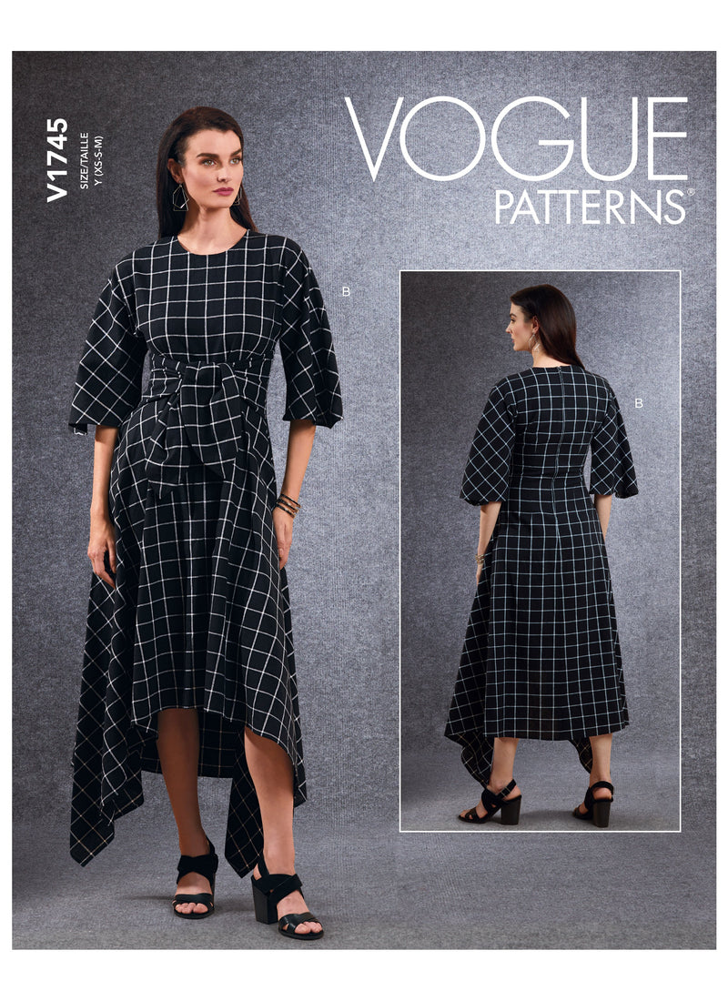 Vogue sewing pattern 1745 Tunic, Dress and Pants from Jaycotts Sewing Supplies