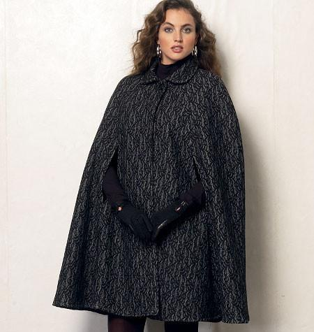 Vogue Pattern 8959 Misses' Cape | Very Easy