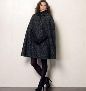 Vogue Pattern 8959 Misses' Cape | Very Easy from Jaycotts Sewing Supplies