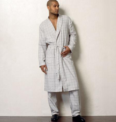 V8964 Men's Robe, Top, Shorts & Pants | Easy