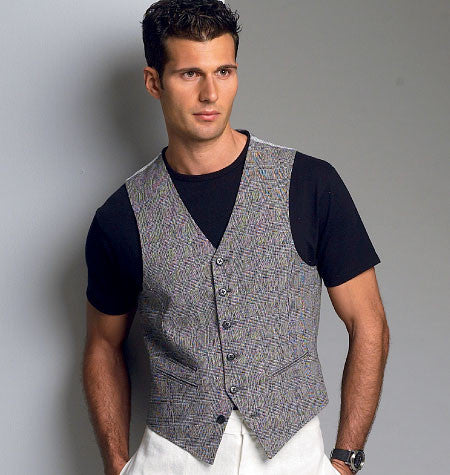 Vogue Pattern 8987 Men's Waistcoat | Average