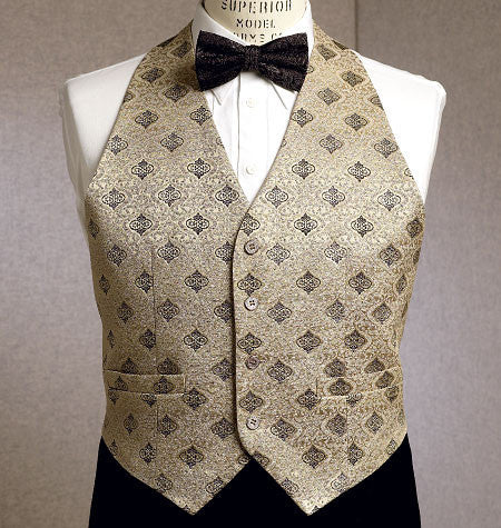 Vogue Pattern 9073 Men's Waistcoat, Cummerbund, Pocket Square