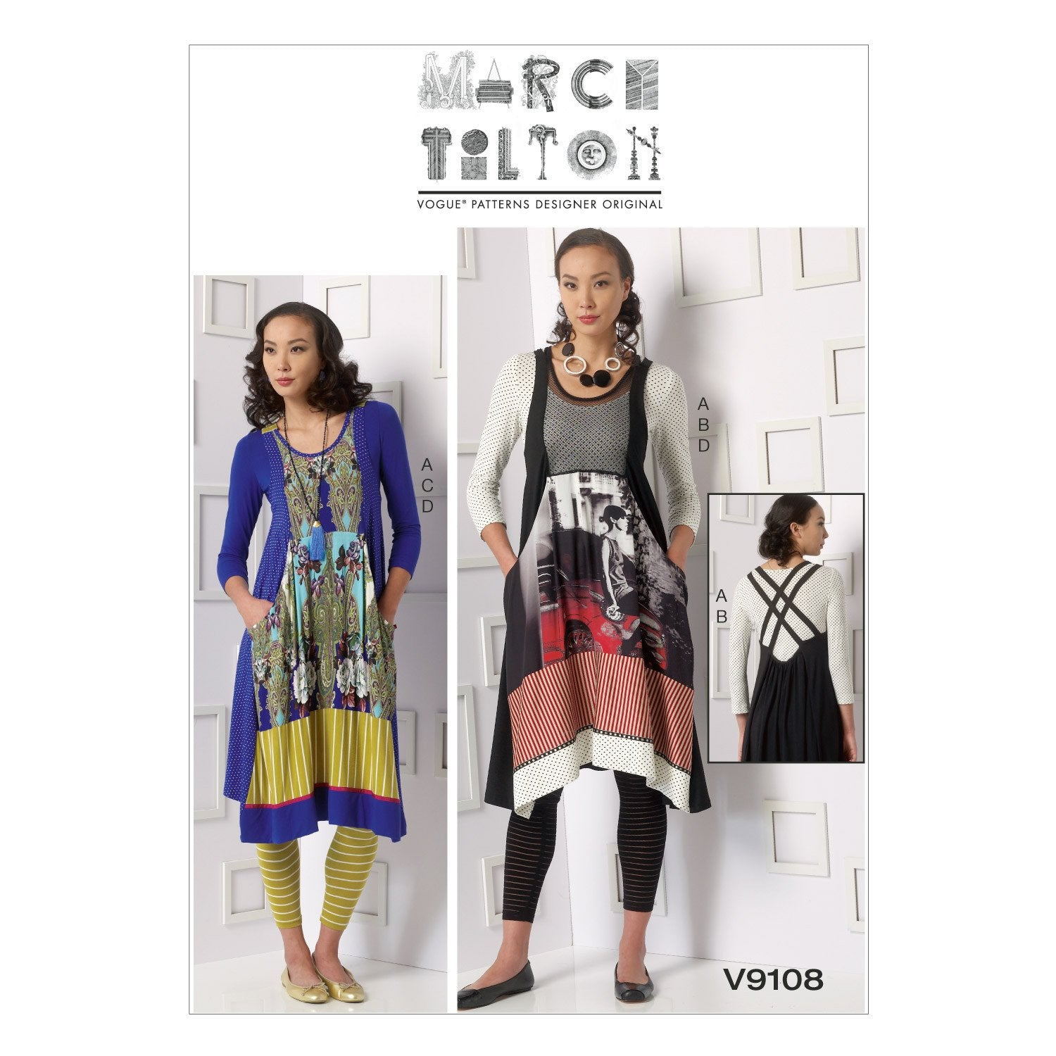 V9108 Misses' Top, Dress and Leggings | Marci Tilton