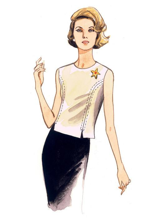 Vogue pattern V9187 Jewel or Scoop-Neck, Princess-Seam Tops
