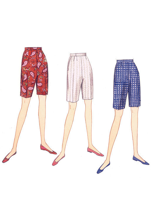 Vogue Pattern 9189 Misses' Shorts and Tapered Pants