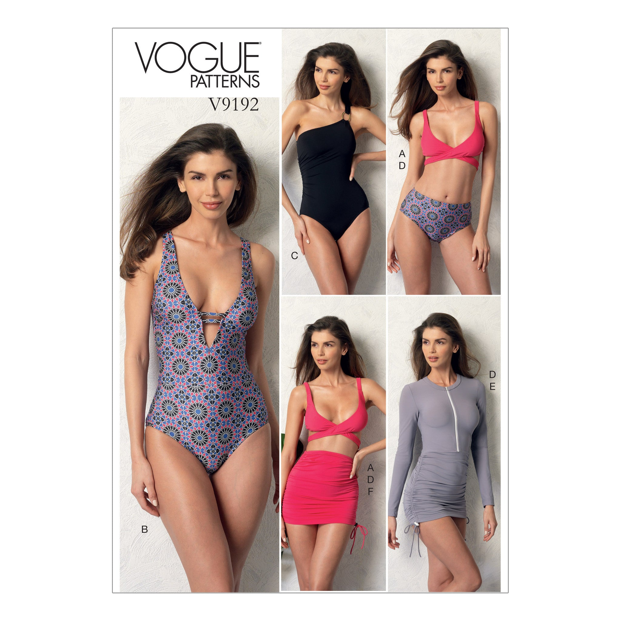 Vogue Pattern V9192 Wrap-Top Bikini, Swimsuits, and Cover-Ups