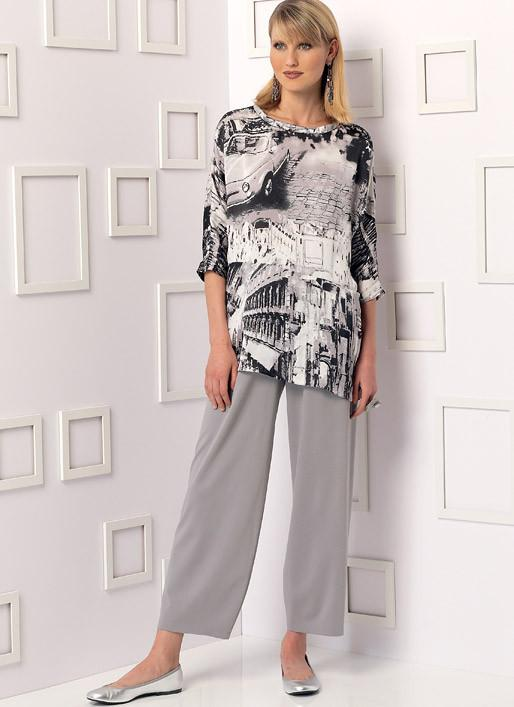 Vogue Pattern V9193 Tunics, and Pants with Yoke