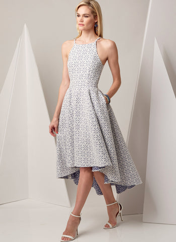 V9252 High-Low Dresses with Pockets