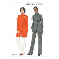 Vogue Pattern 9274 Asymmetrical Jacket, and Pull-On Pants