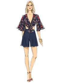 Vogue Pattern 9319 Misses' Top, Shorts and Pants