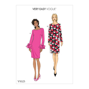 Vogue Pattern 9325 Misses' Dress | Very Easy Vogue Pattern from Jaycotts Sewing Supplies