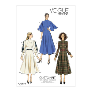 Vogue Pattern 9327 Misses' Dress Pattern | Custom Fit
