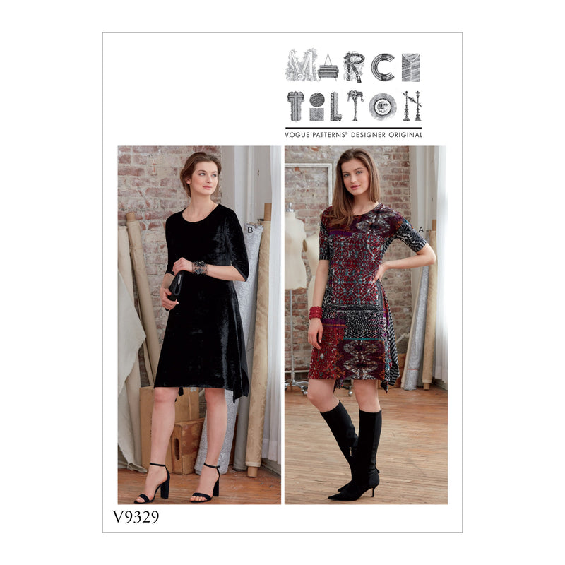 Vogue Pattern 9329 Misses' Dress Pattern | Marcy Tilton from Jaycotts Sewing Supplies