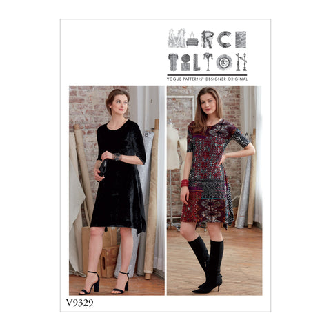 V9329 Misses' Dress Pattern | Marcy Tilton