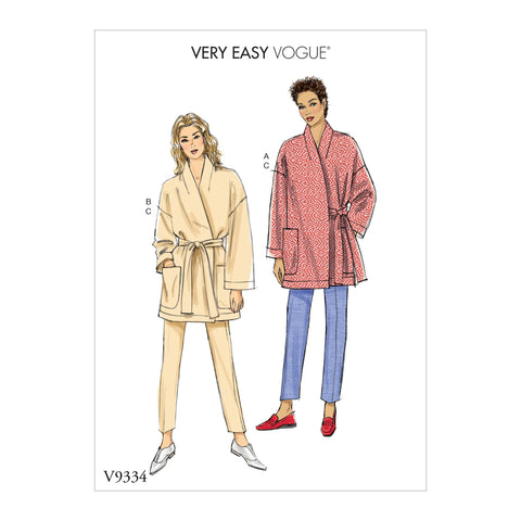 V9334 Misses' Jacket, Belt and Pants | Very Easy Vogue