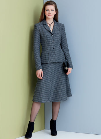 V9336 Misses'/Misses' Petite Jacket, Skirt and Pants