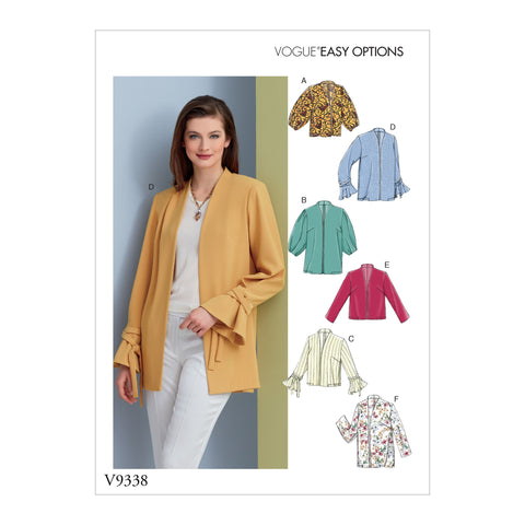 V9338 Misses' Jacket Pattern | Very Easy Vogue