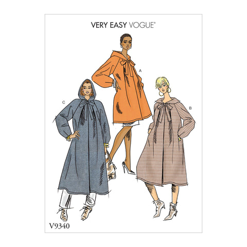 V9340 Misses' Coat Pattern | Very Easy Vogue