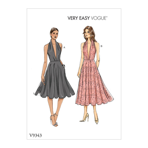 V9343 Misses' Dress | Vogue Pattern