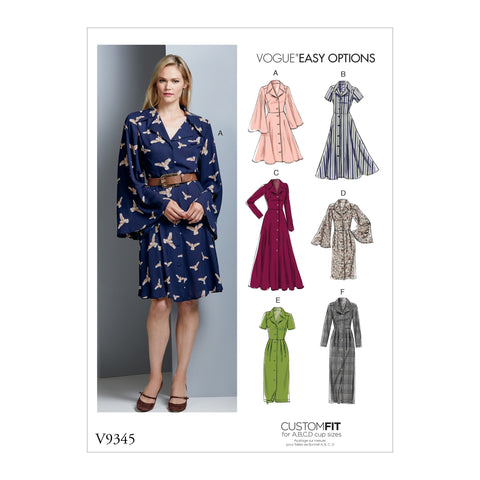 V9345 Misses' Dress | Vogue Pattern
