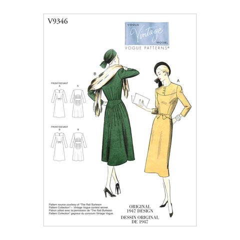 V9346 Misses' Dress | Vogue Pattern
