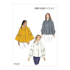 Vogue Pattern 9347 Misses' Top | Vogue Pattern from Jaycotts Sewing Supplies