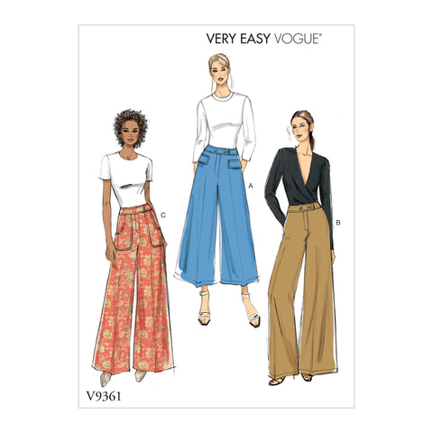 Vogue Pattern V9361 Misses'/Petite Pants