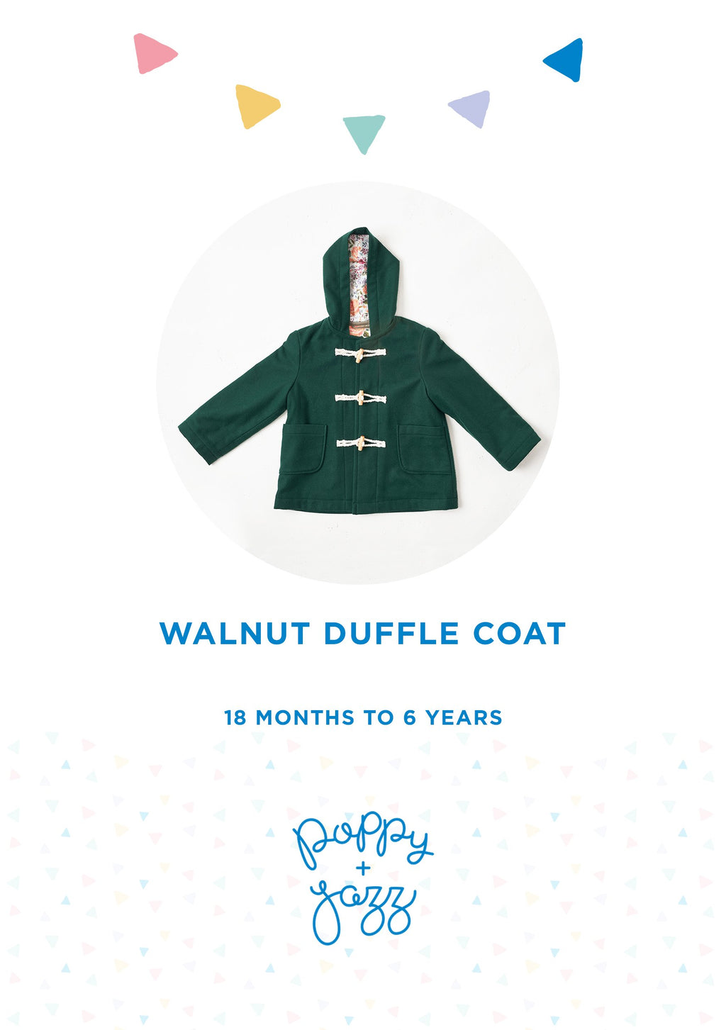 Sew Over It Poppy + Jazz | Walnut Duffle Coat Sewing Pattern from Jaycotts Sewing Supplies