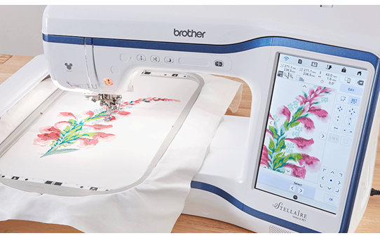 Brother Stellaire XE1 embroidery machine