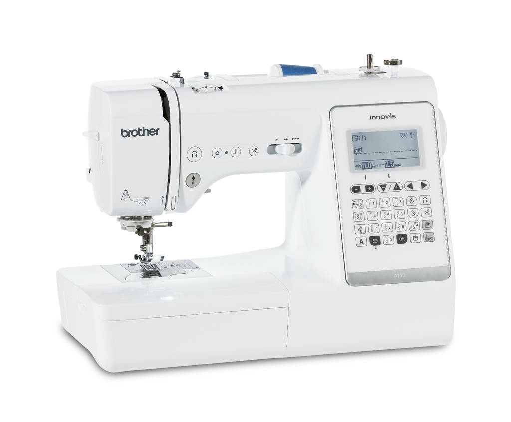 Brother A150 sewing machine from Jaycotts, Angle view
