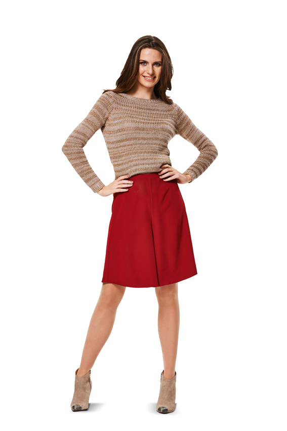 BD6980 Misses' Pantskirts | Easy