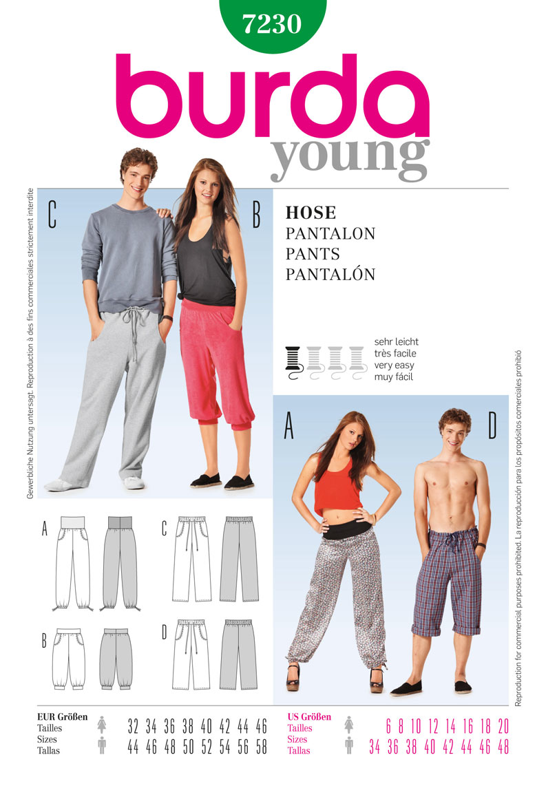 BD7230 Unisex Pants | Very Easy from Jaycotts Sewing Supplies