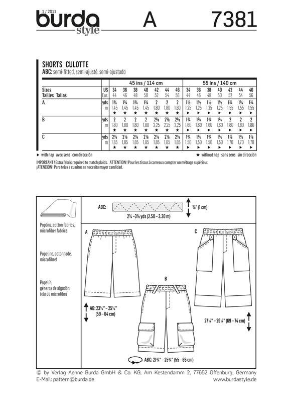 BD7381 Mens' Shorts | Easy from Jaycotts Sewing Supplies
