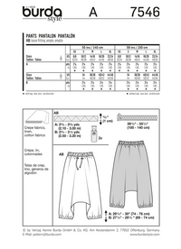 BD7546 Unisex Pants | Very Easy from Jaycotts Sewing Supplies