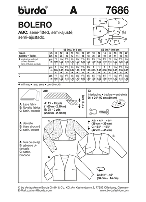 BD7686 Misses' Bolero | Easy from Jaycotts Sewing Supplies
