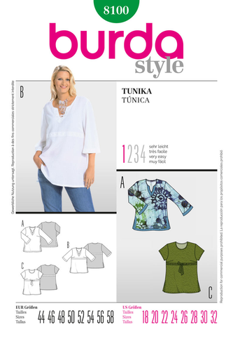 BD8100 Misses' Tunic | Very Easy
