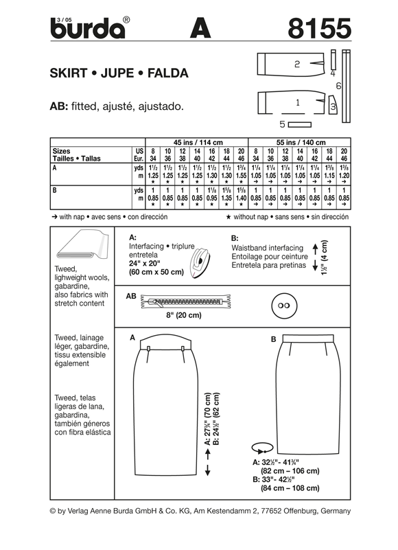 BD8155 Misses' Skirt | Very Easy