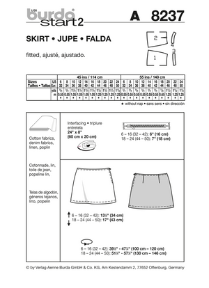 BD8237 Misses' Skirt | Very Easy from Jaycotts Sewing Supplies