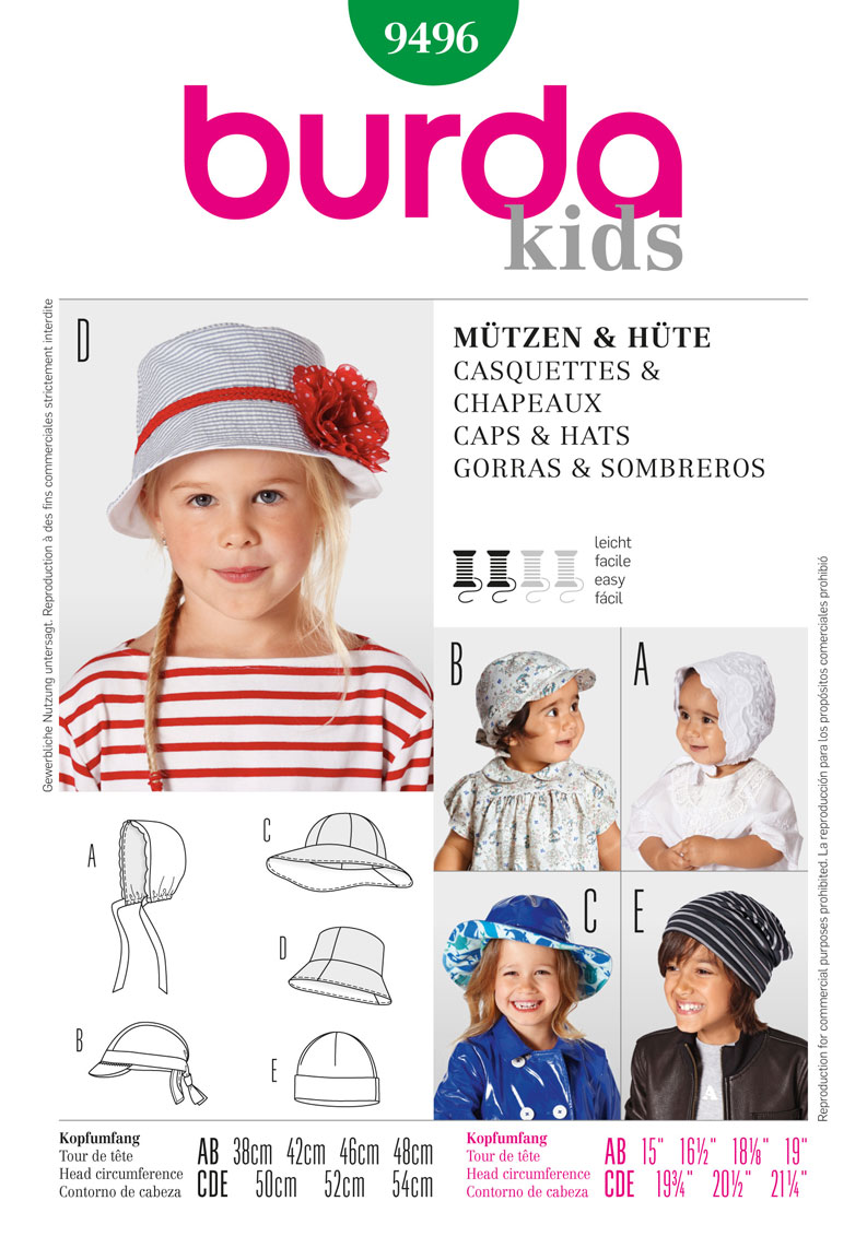 BD9496 Children's Caps & Hats