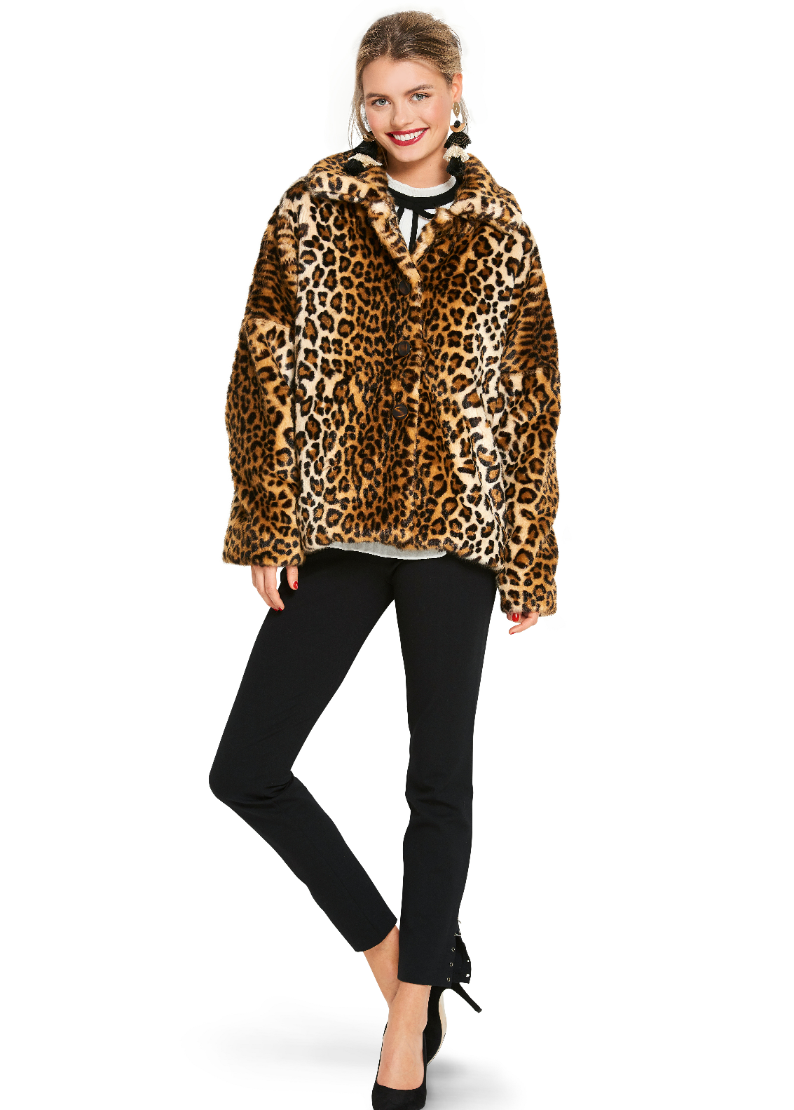 BD6359 Women's Fake Fur Coat pattern