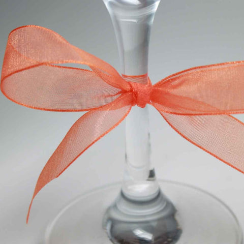Berisfords Ribbon Super Sheer Orange 15mm