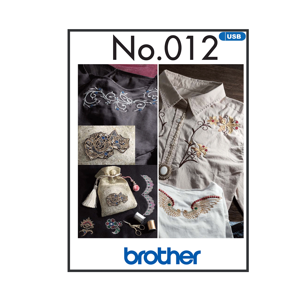 Brother Embroidery USB 012 | Fancy Decorative from Jaycotts Sewing Supplies