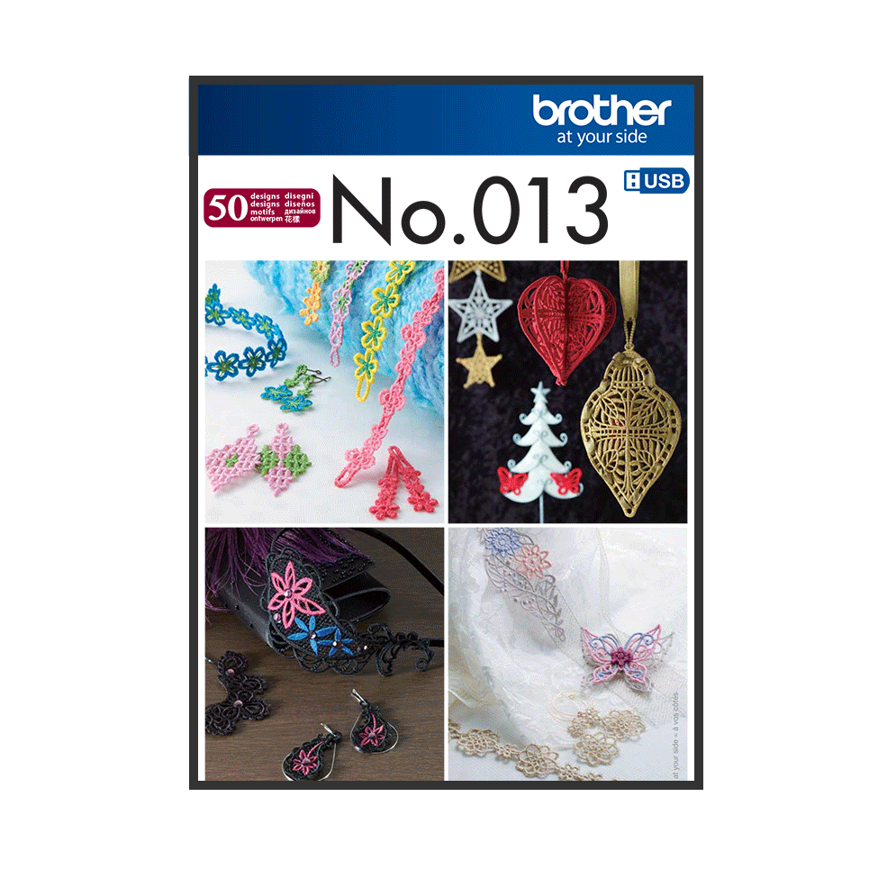 Brother Embroidery USB 013 | 3D Lace