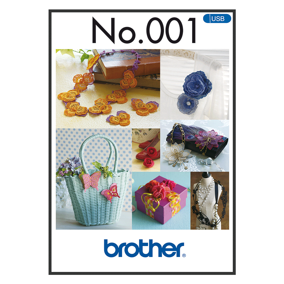Brother Embroidery USB 001 | 3D motifs from Jaycotts Sewing Supplies