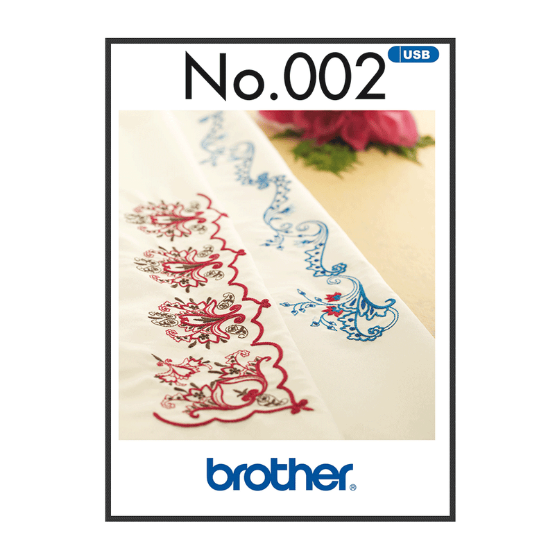 Brother Embroidery USB 002 | Oriental Border