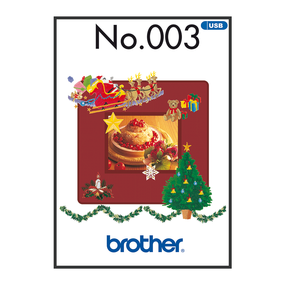 Brother Embroidery USB 003 | Christmas from Jaycotts Sewing Supplies