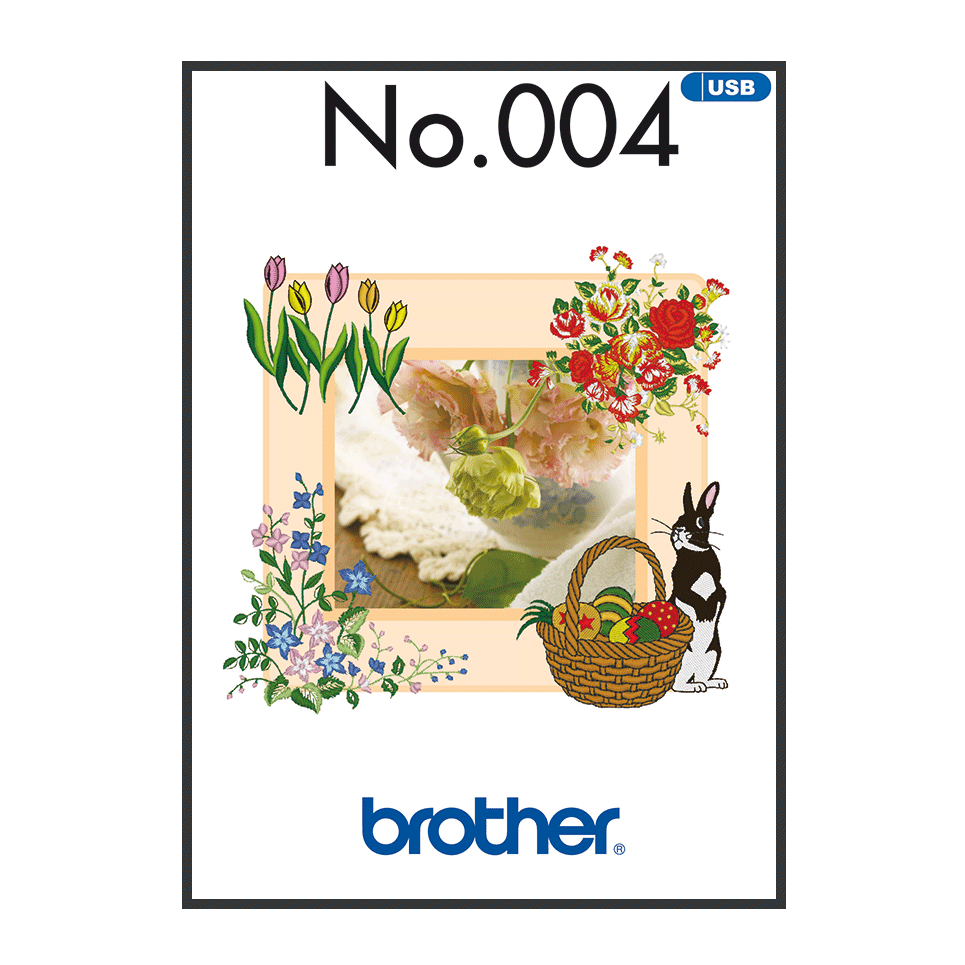 Brother Embroidery USB 004 | Spring