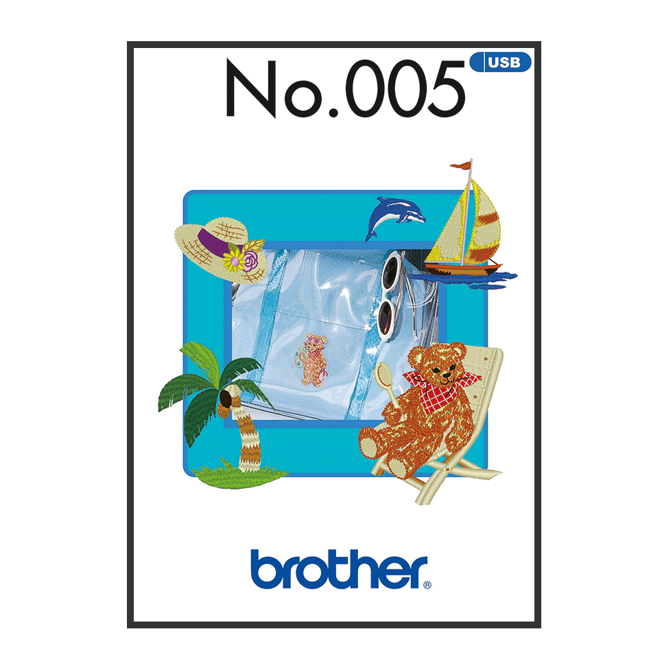 Brother Embroidery USB 005 | Summer from Jaycotts Sewing Supplies