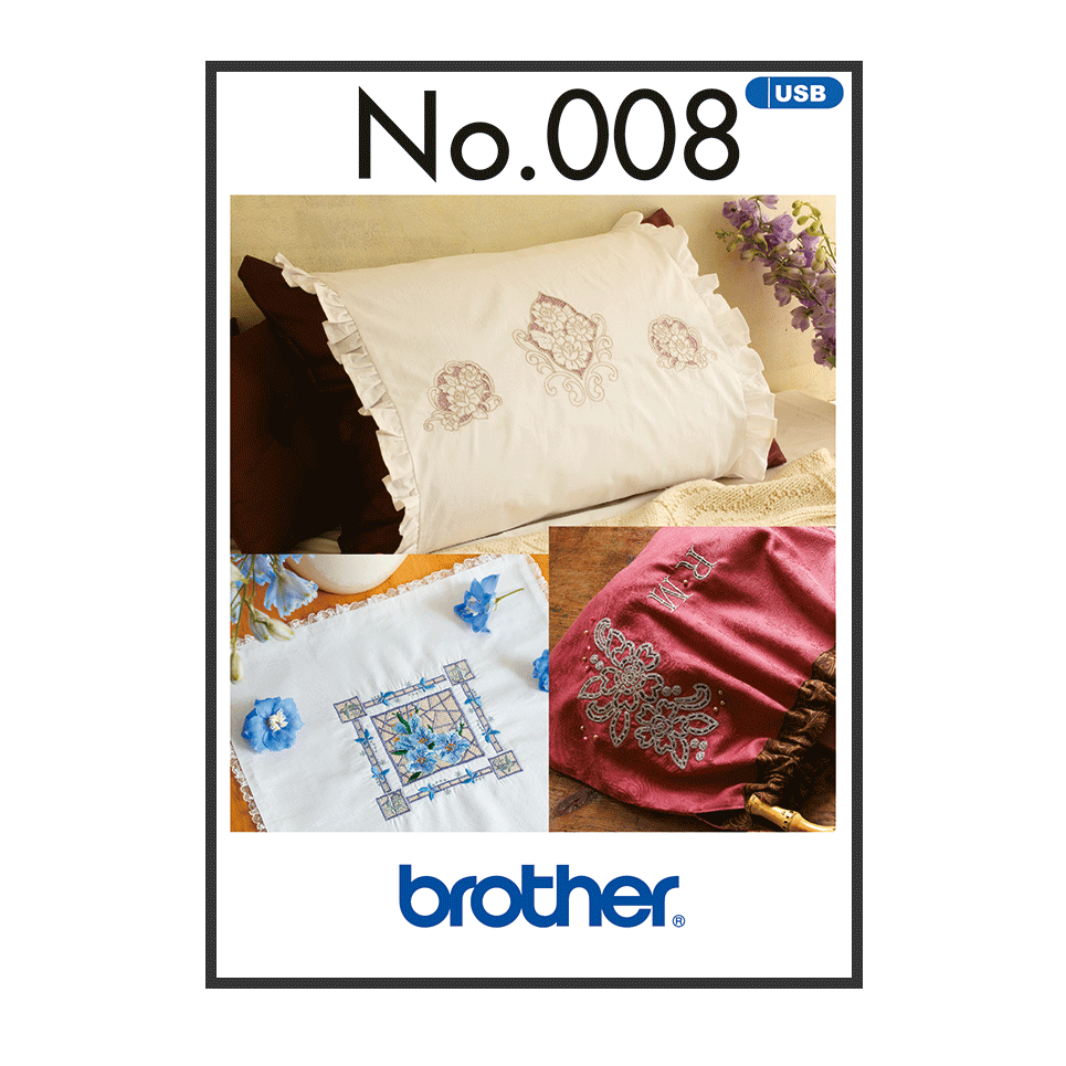 Brother Embroidery USB 008 | Cutwork from Jaycotts Sewing Supplies