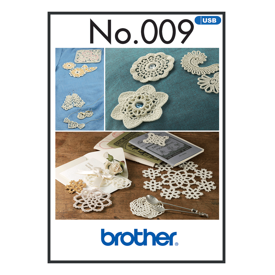 Brother Embroidery USB 009 | Crochet Style from Jaycotts Sewing Supplies